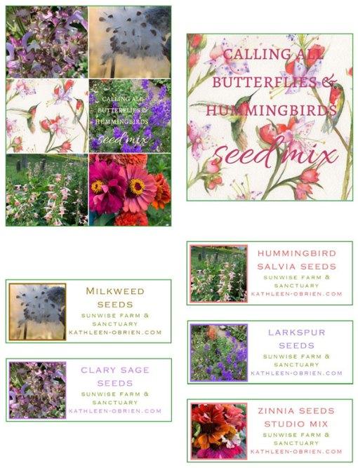 Garden Card set 3, Calling all Butterflies & Hummingbirds