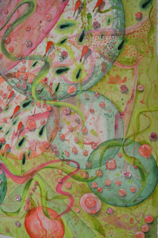 Celebration in the Faerie Garden, detail, ©Kathleen O'Brien