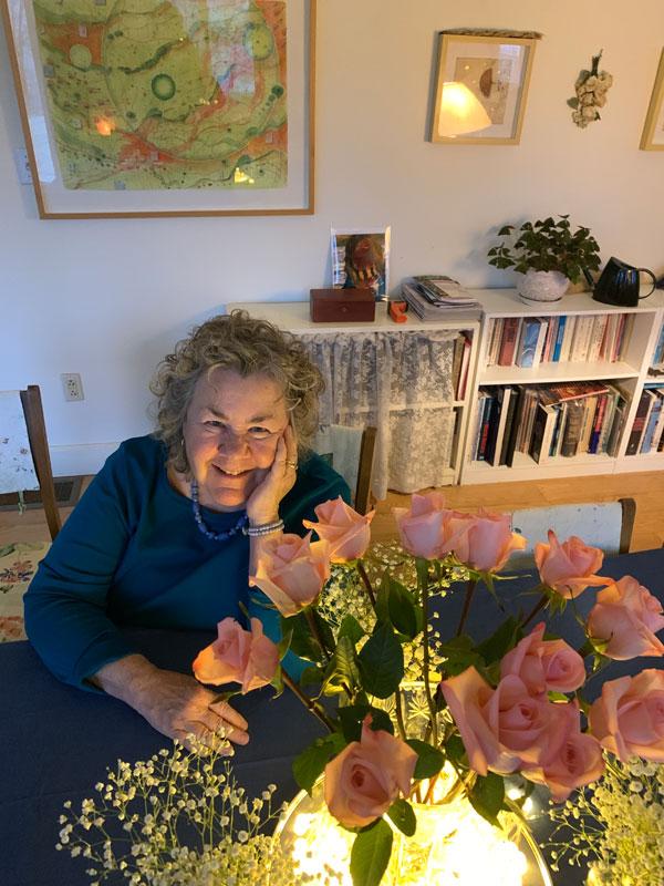 KO'B with valentine roses