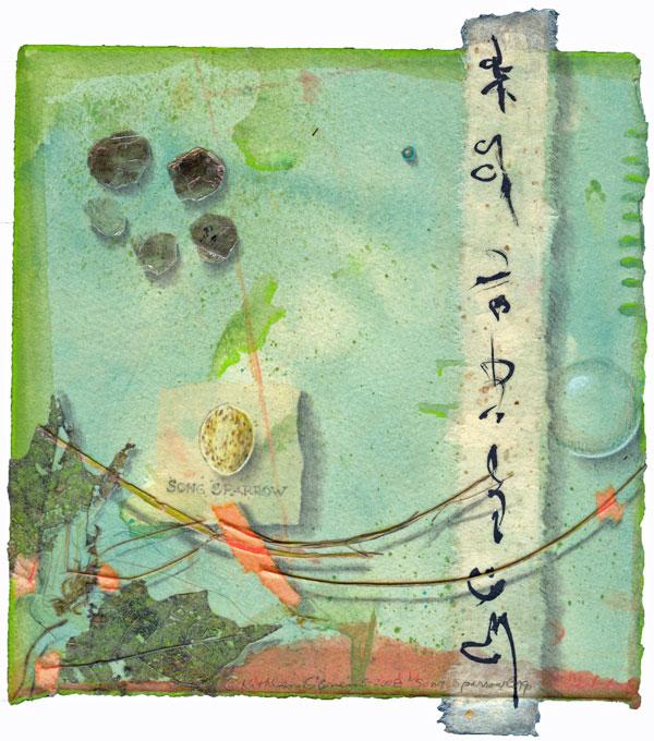 Song Sparrow Egg, giclee print ©Kathleen O'Brien
