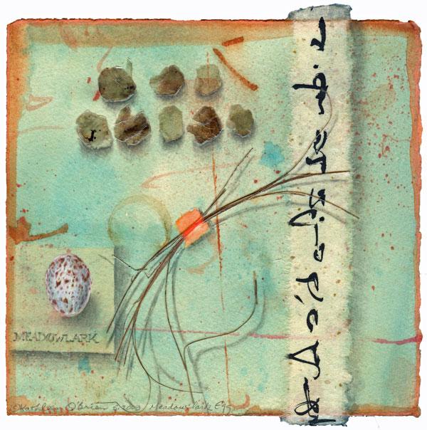 Meadowlark Egg, giclee print ©Kathleen O'Brien