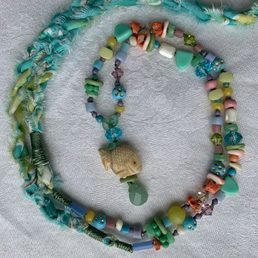 Talisman for Fish, necklace by Kathleen O'Brien