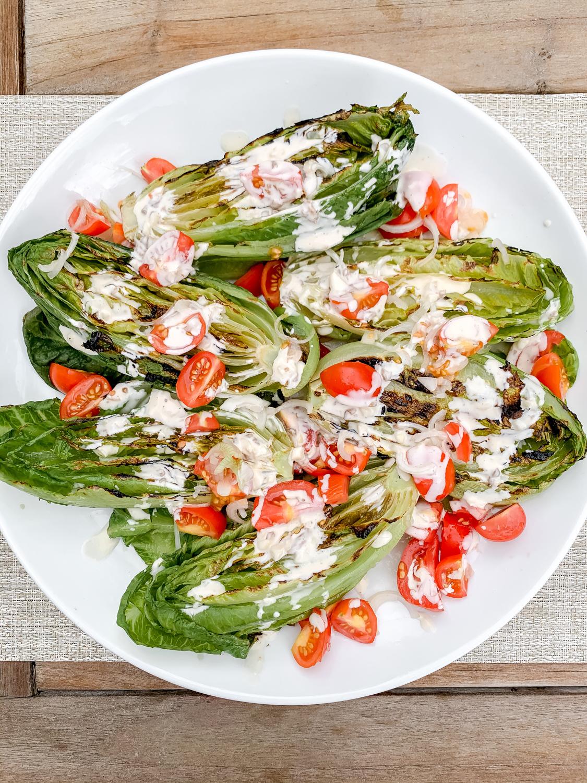 Grilled (Faux) Caesar Salad