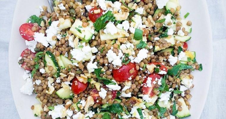 Herby Marinated Lentil Salad