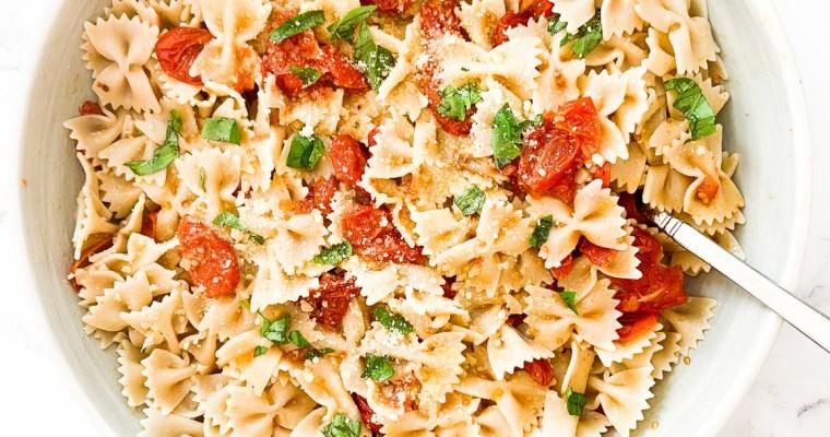 Slow Roasted Tomato & Garlic Pasta
