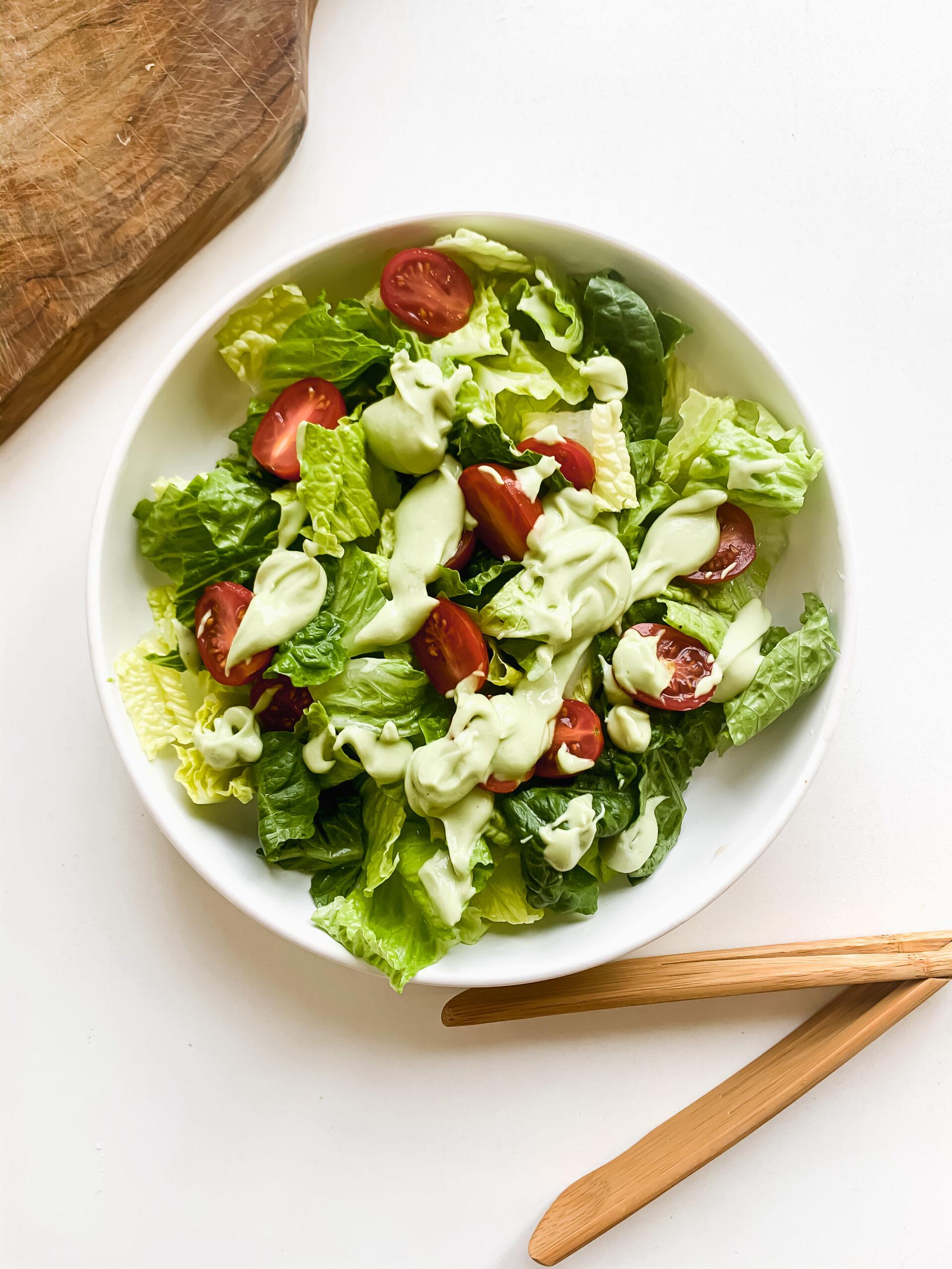 Avocado Caesar Salad Dressing (Dairy Free + Egg Free)