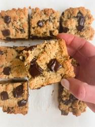 tahini cookie bars