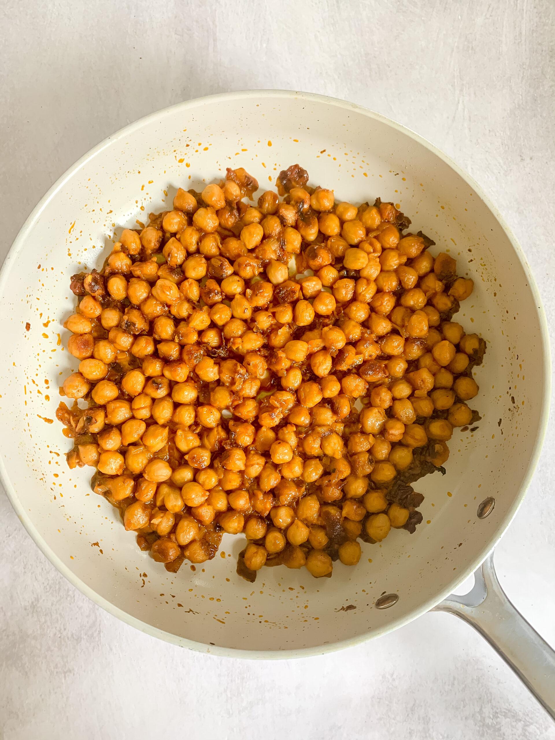 Saucy Coconut Spiced Chickpeas (Vegan, Gluten Free)