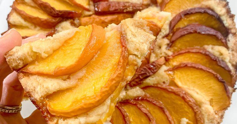 Peach Picnic Cake (Gluten Free)