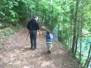 Uncle David taking Colin fishing.