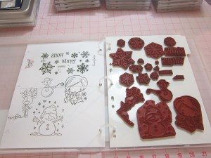 Unmounted Rubber Stamps stored safely and securely