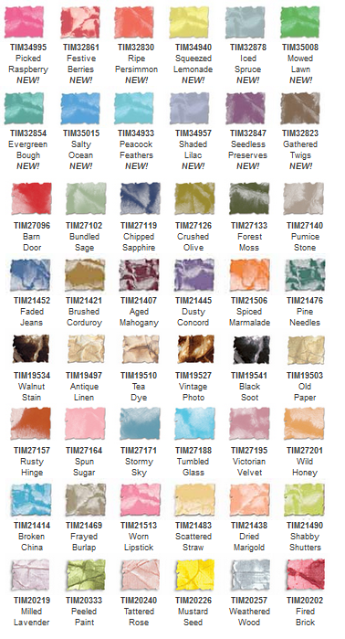 Tim Holtz Distress Ink Colors