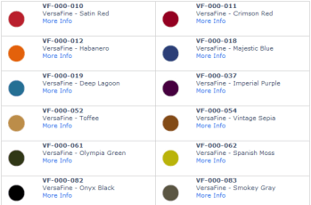 versafine colors