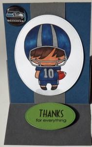 Seahawks Easel Card