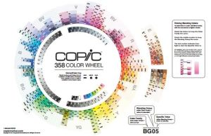 Copic Color Chart 2014