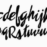 Free Brush Script Alphabet Cut File for Silhouette!