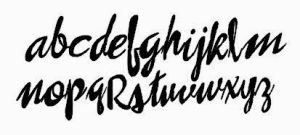 Free brush script cut file for silhouette