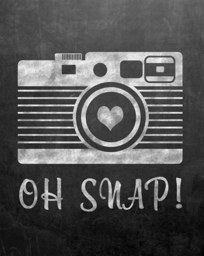 free oh snap chalkboard printable