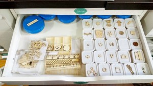 Wood Veneer Storage drawer