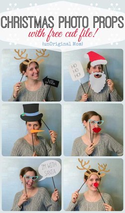 free holiday photo props
