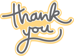 """Thank You"" Free Cut File"