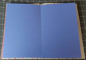 Inside of die cut booklet