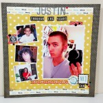 Seeing Double:  Scrapbook Layout w/Matching Card