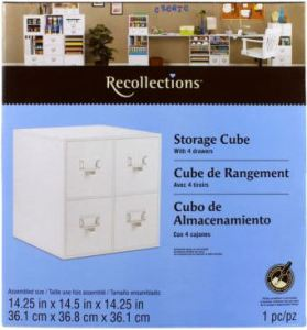4 drawer cube for stamp storage