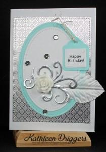 Elegant Happy birthday card