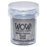 wow metallic platinum embossing powder