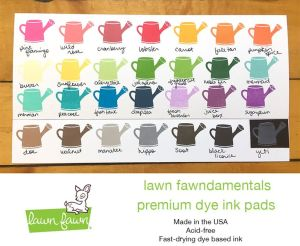 Lawn Fawn Ink pad Color Chart