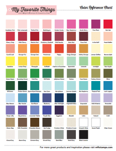MFT Color Chart