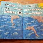 Art Journal Page #2 – Featuring Kat Scrappiness Stitched Dolphin Dies