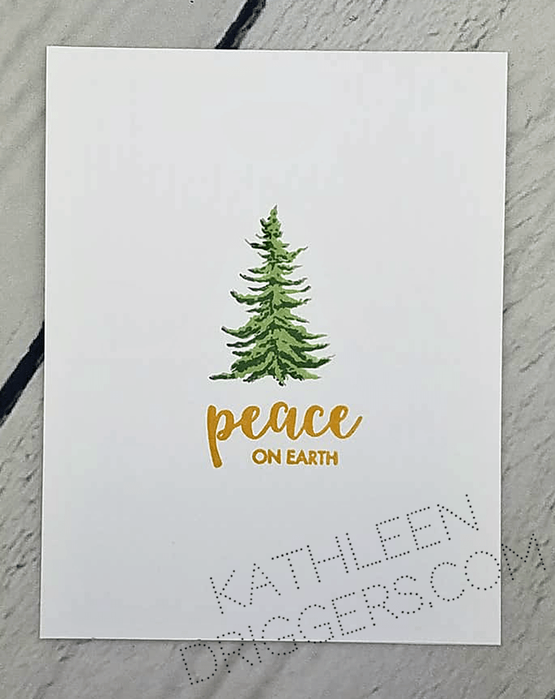 true one layer christmas card kat s adventures in paper crafting