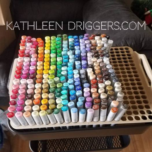 Kat's Raskog Copic Marker Storage Solution