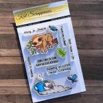 Stewart the Sloth Stamp Set by Kat Scrappiness