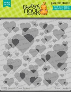 bokeh hearts stencils