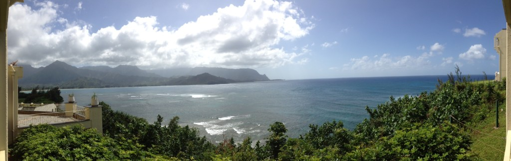 With your Miles Makeover, will you choose to take in this panoramic view of tranquil Hanalei Bay on Kauai.