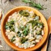 White bean and green stew