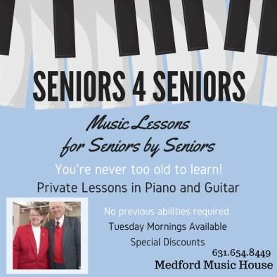 Medford Music House Seniors For Seniors Music Lessons Gubitosi