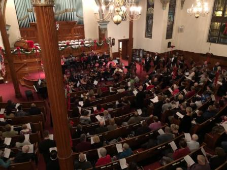 Holiday Concert 2017 aerial view
