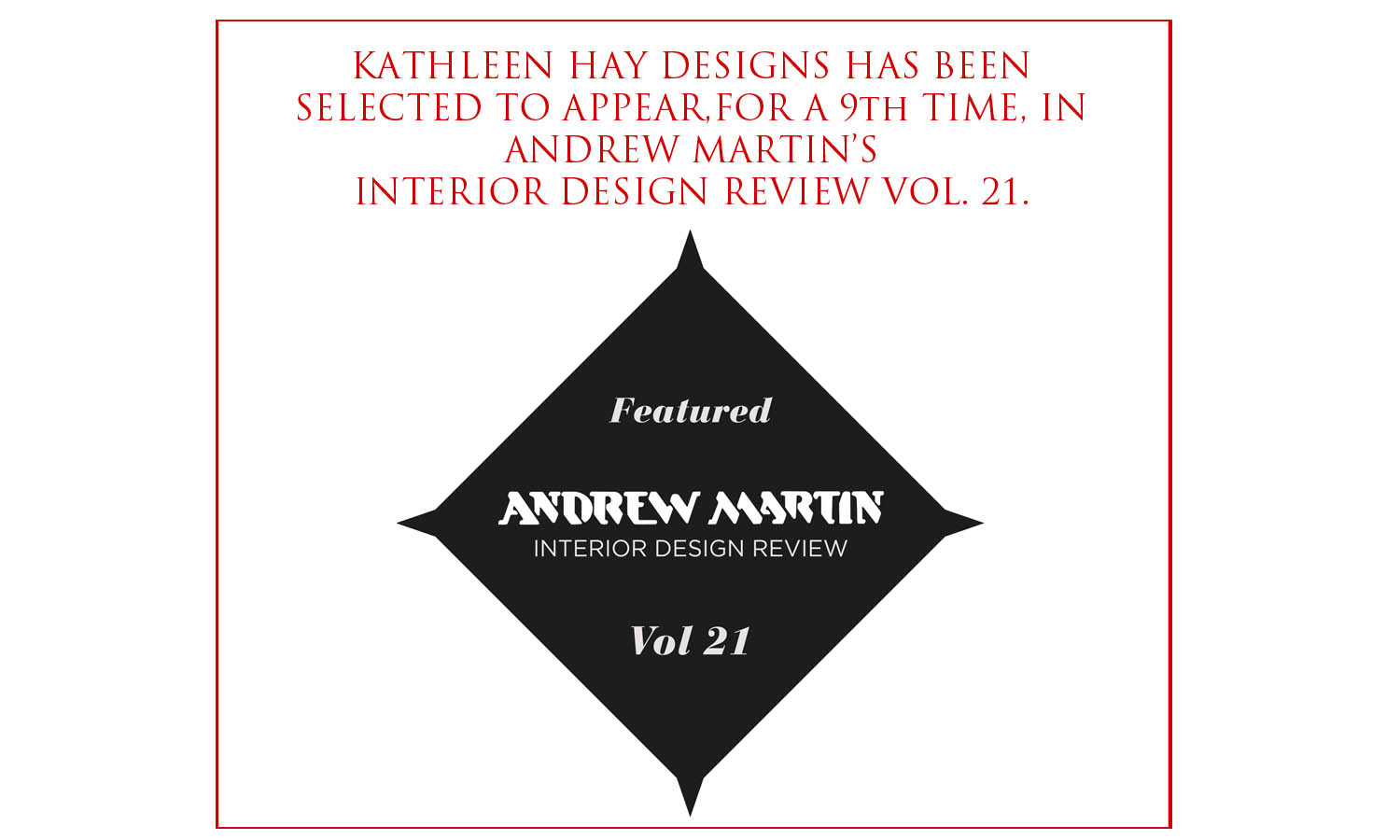 Kathleen Hay Designs Selected For Andrew Martin Interior Design Review Vol 21 Kathleen Hay Designs