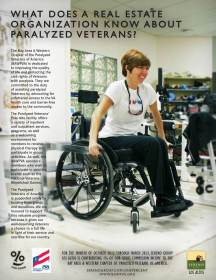 Sereno One Percent for Good Ad - Paralyzed Vets