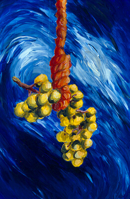 Suicidal Grapes. Inspired by the style of Vincent Van Gogh.