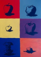 Apple with Multiple Personalities. Inspired by the style of Andy Warhol.