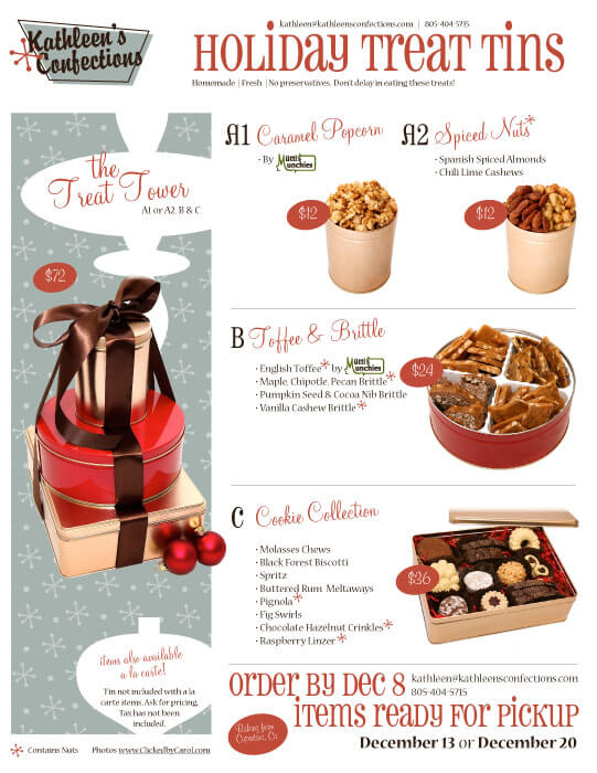 Kathleen's Confections Holiday Order Flier