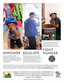 Sereno One Percent for Good Ad - Grind out Hunger