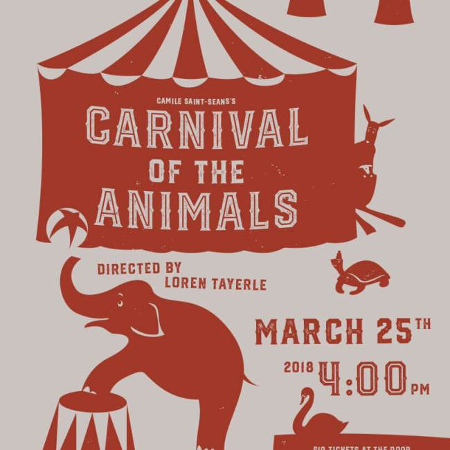 Carnival of the Animals poster De Anza