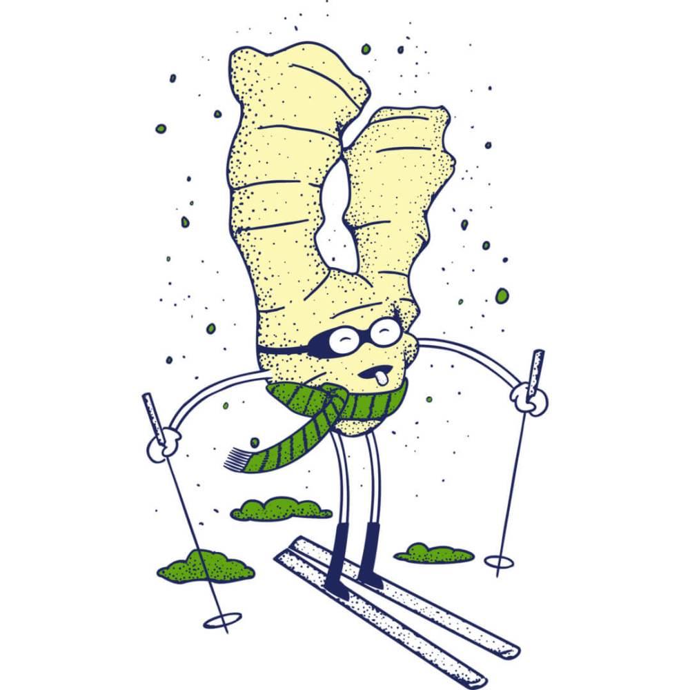 Health-Ade kombucha Ginger Matcha Skier
