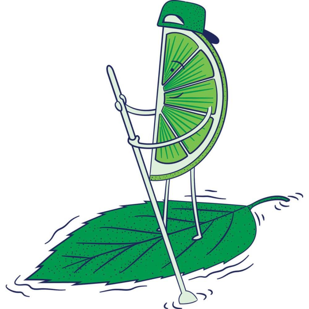 Health-Ade kombucha Mint Limeade Paddleboarder